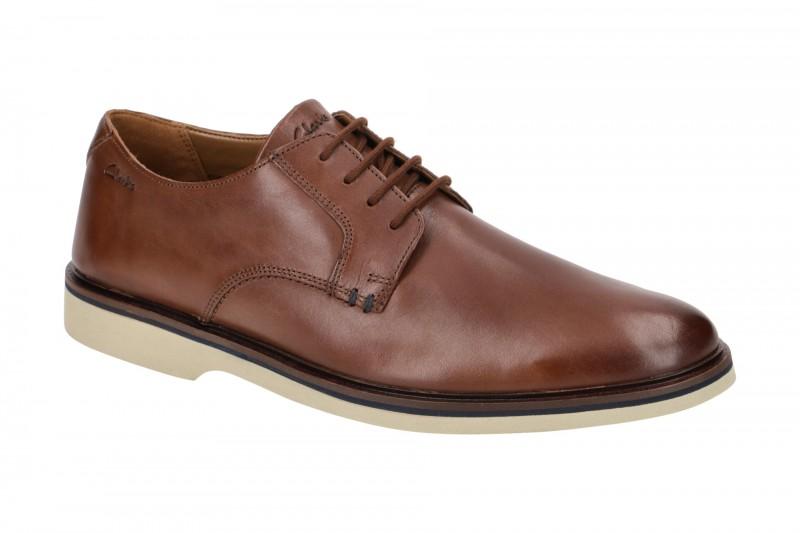 Clarks MALWOOD PLAIN elegante Halbschuhe und Schnürschuhe für Herren in braun