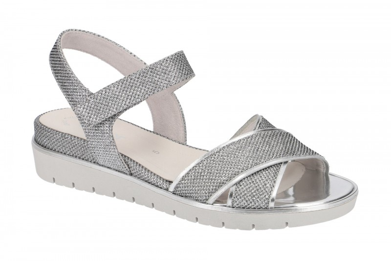 Gabor 85.509 Riemchen Sandale für Damen in silber