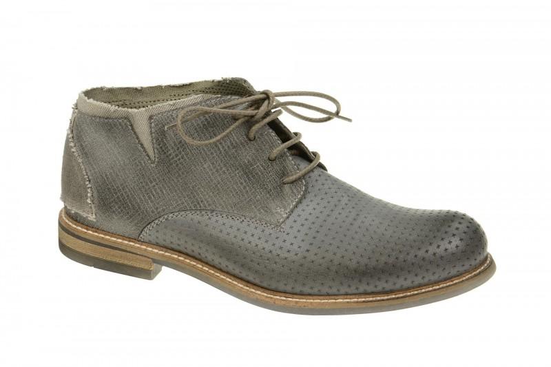 Bello HE167 elegante Halbschuhe und Schnürschuhe für Herren in dunkel-grau