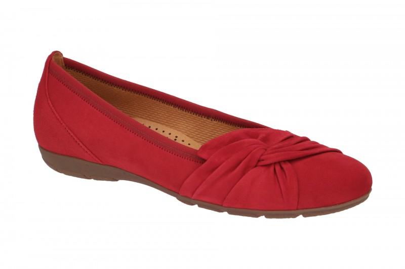 Gabor 24.150 Ballerina - Halbschuhe - Slipper für Damen in rot