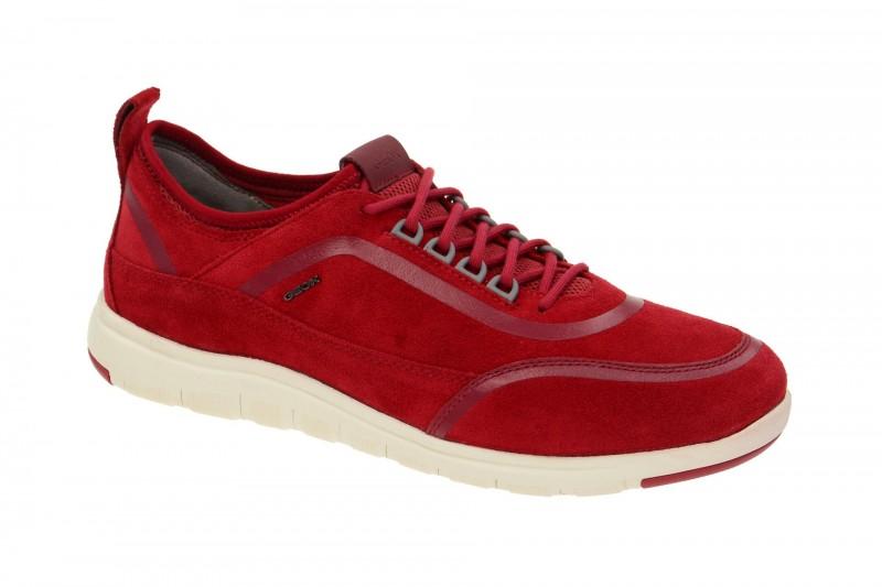 Geox Respira Xunday B Sneakers in rot Herrenschuhe