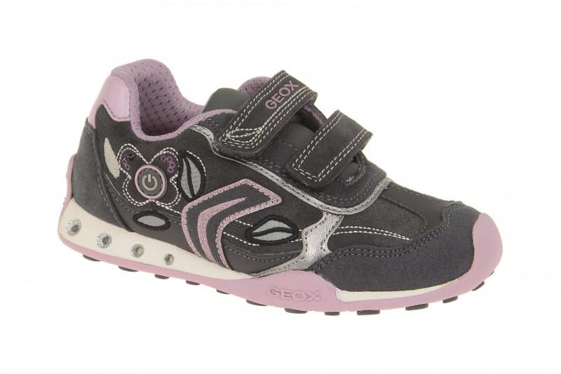 Geox Respira Jocker Girl Kinder Schuhe in dunkelgrau Mädchen