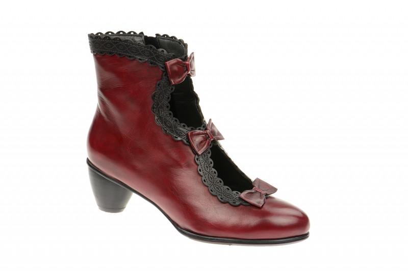 Everybody 14859 elegante Stiefelette für Damen in rot