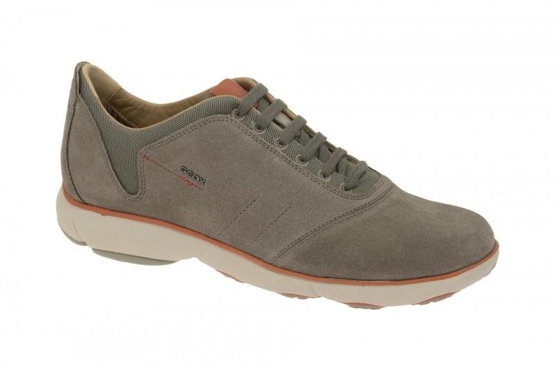 Geox Respira Nebula A Schnürhalbschuhe in grau orange Sneakers