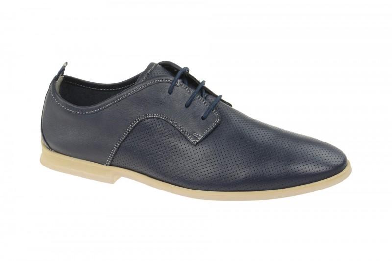 Clarks FREWICK WALK elegante Halbschuhe und Schnürschuhe für Herren in blau