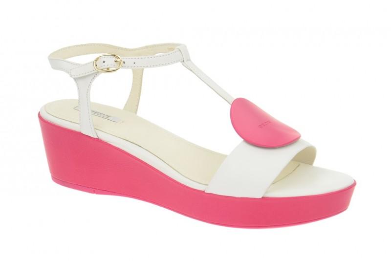 Geox Respira Nouvelle Sandaletten in weiß pink - bestellen!