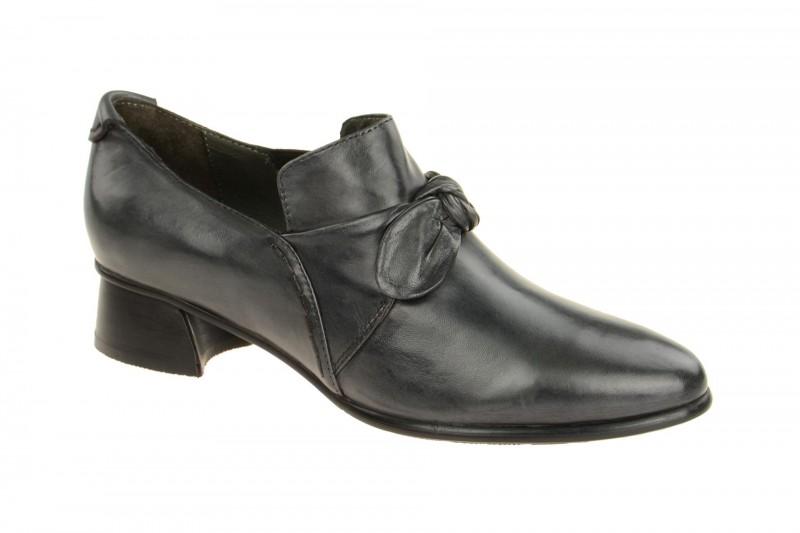 Everybody 34445 elegante Slipper für Damen in dunkel-grau