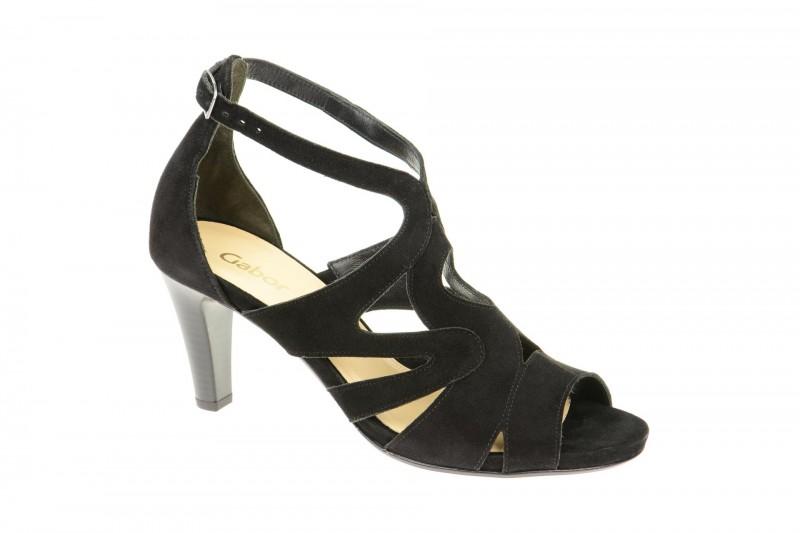 Gabor 21.820 Riemchen Sandale für Damen in schwarz