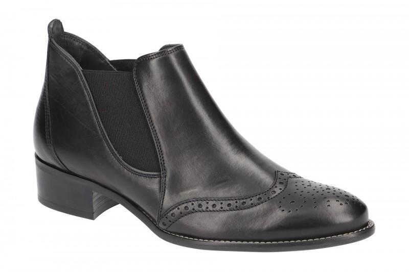 Paul Green 7358 elegante Stiefelette für Damen in schwarz