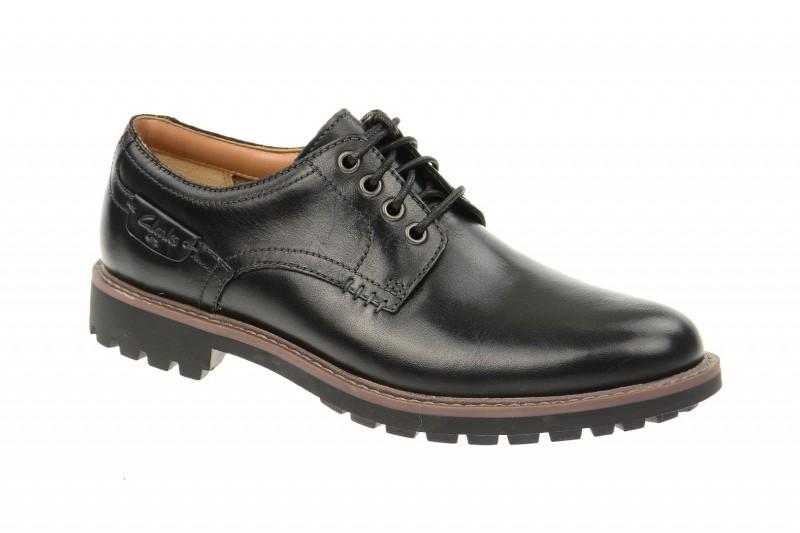 Clarks MONTACUTE HALL elegante Halbschuhe und Schnürschuhe für Herren in schwarz