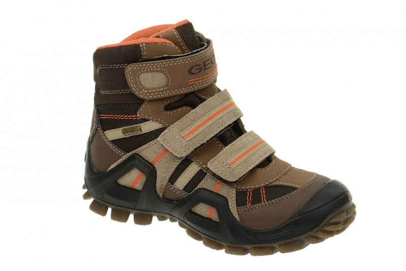 Geox Voyag ABX Stiefel Kinderschuhe braun J1367C