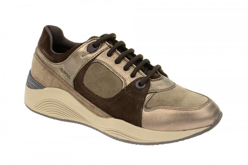 Geox Respira Omaya A Sneakers grau braun Damenschuhe