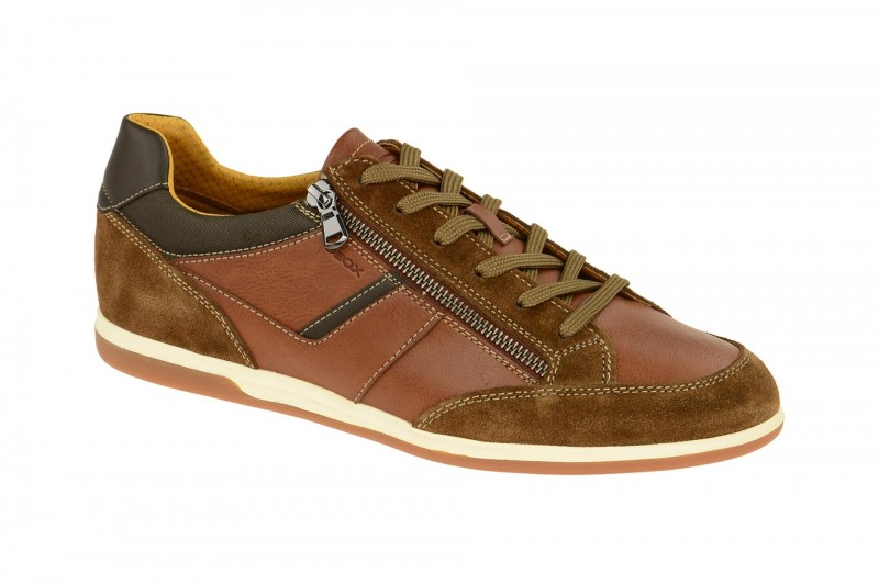 Geox Respira Renan C Herren Sneakers Schuhe in hellbraun