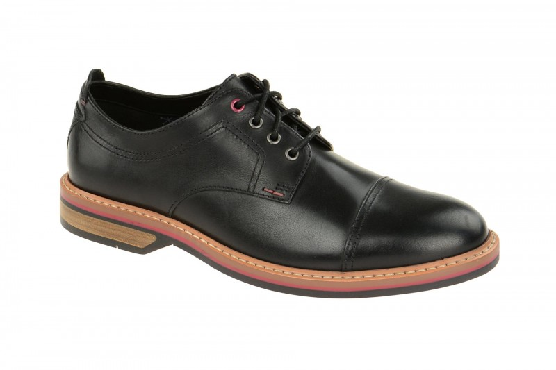 Clarks PITNEY CAP elegante Halbschuhe und Schnürschuhe für Herren in schwarz
