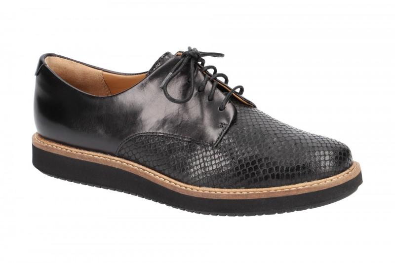 Clarks GLICK DARBY elegante Halbschuhe für Damen in schwarz
