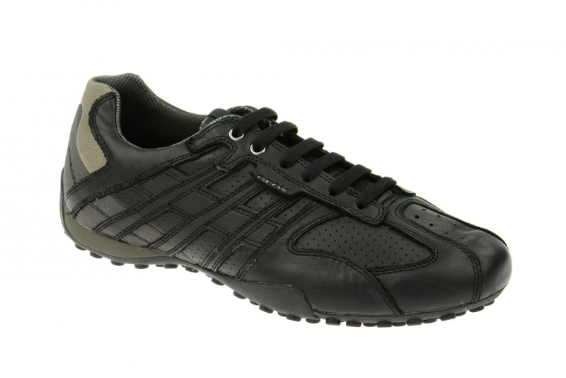 Geox Respira Snake K Sneakers in schwarz Leder Schuhe