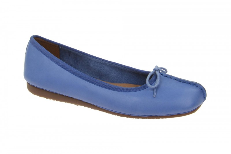 Clarks FRECKLE ICE Ballerina - Halbschuhe - Slipper für Damen in hell-blau