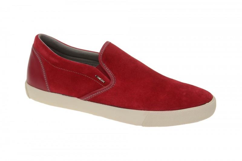 Geox Respira Smart A Schuhe in rot Herren Slipper