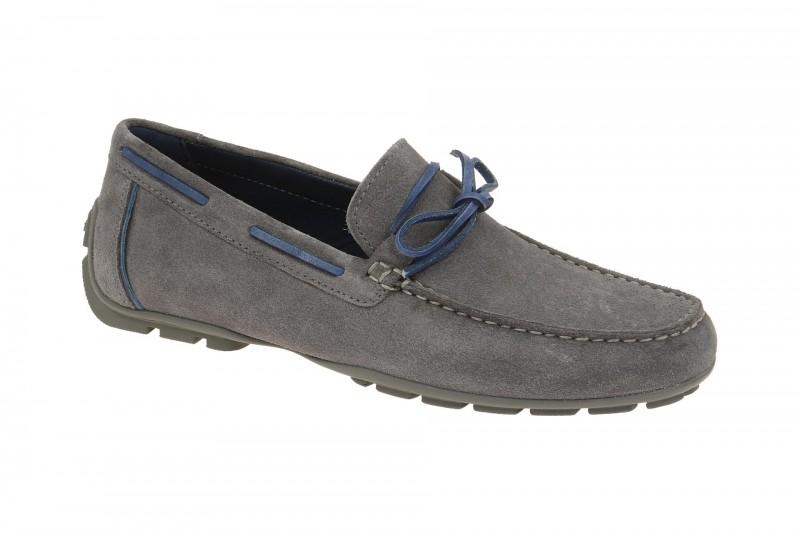 Geox Respira Monet A Schuhe in grau Herren Slipper