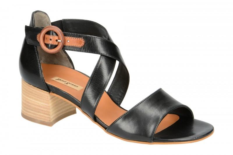 Paul Green 7164 Sandalette für Damen in schwarz