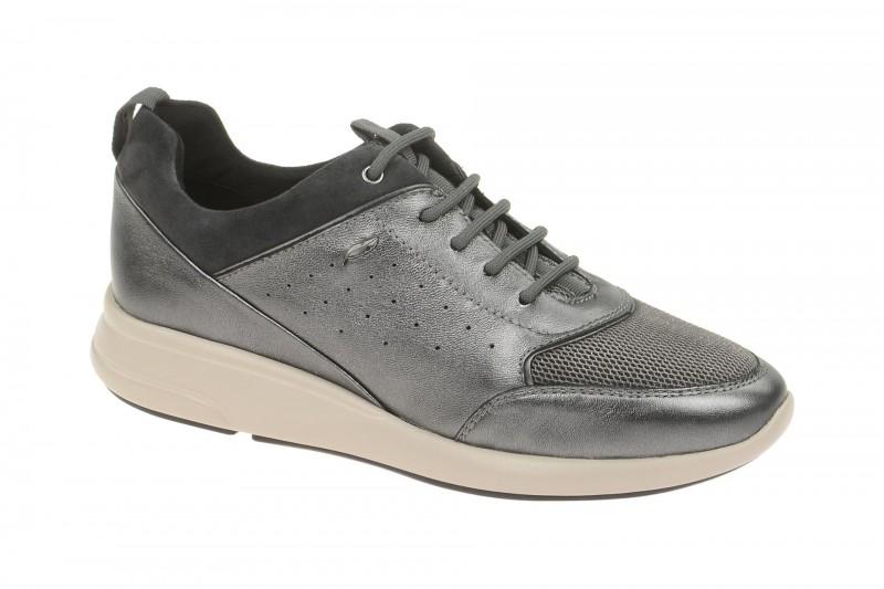 Geox Respira Ophira B Sneakers in grau metallic Damenschuhe