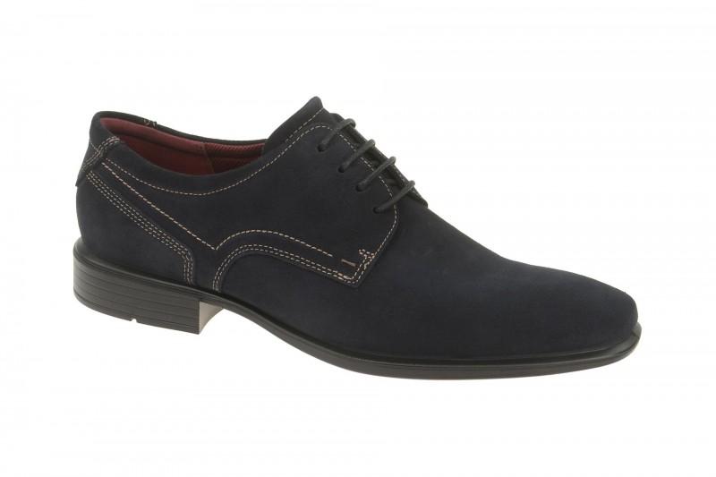 Ecco CAIRO elegante Halbschuhe und Schnürschuhe für Herren in dunkel-blau