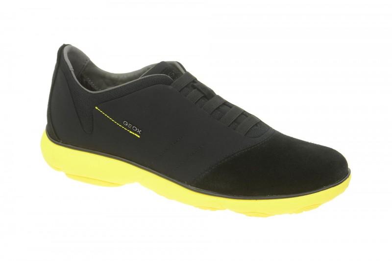 Geox Respira Nebula F Sneakers in schwarz gelb Sippers