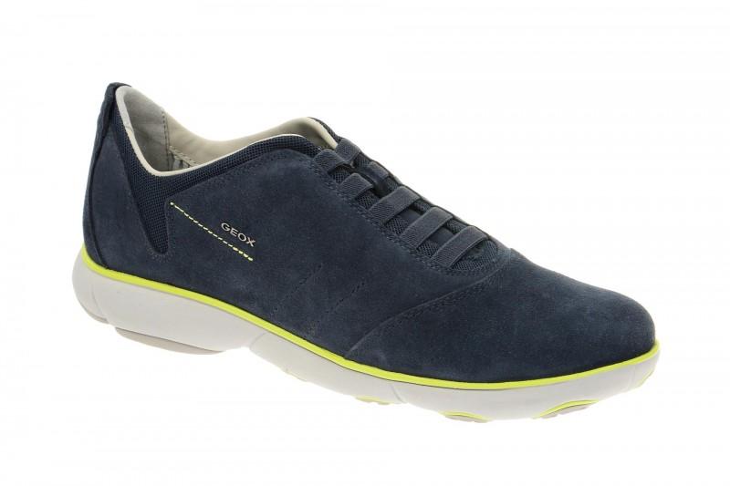 Geox Respira Nebula B Schuhe in dunkelblau gelb Herren Slippers