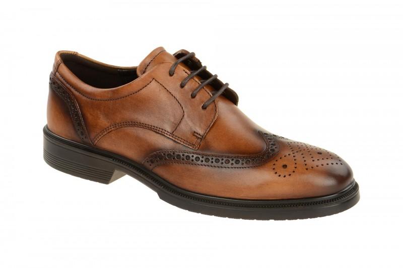 Ecco LISBON elegante Halbschuhe und Schnürschuhe für Herren in hell-braun