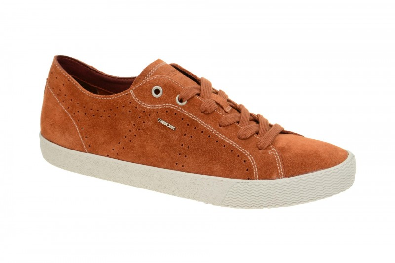 Geox Respira Smart Herren Sneakers in orange Wildleder Schuhe