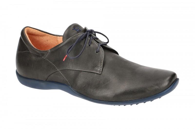 Think STONE elegante Halbschuhe und Schnürschuhe für Herren in dunkel-grau