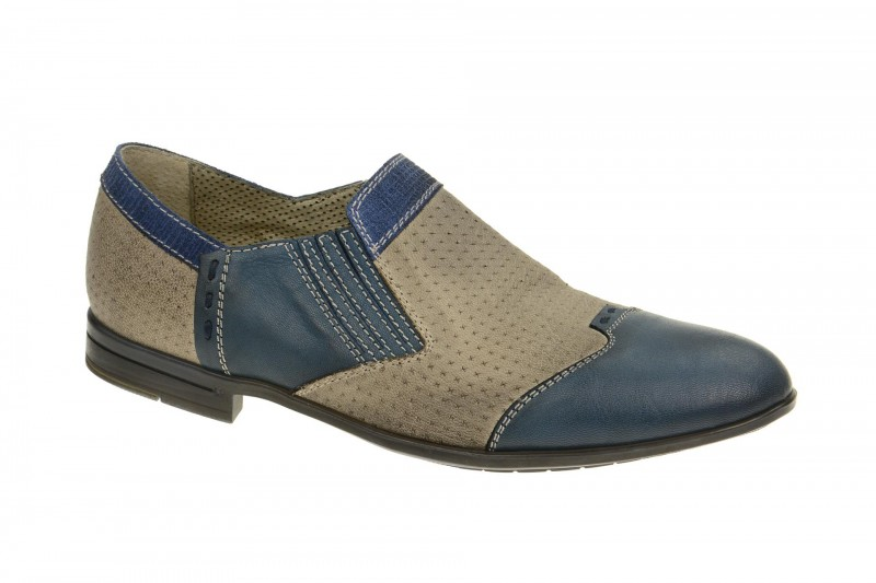 Bello D765 elegante Slipper für Herren in blau