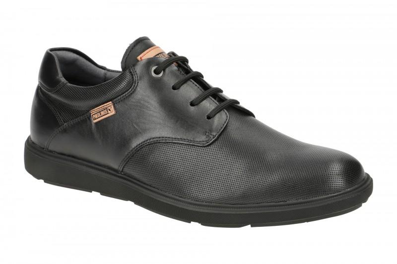 Pikolinos DURANGO elegante Halbschuhe und Schnürschuhe für Herren in schwarz
