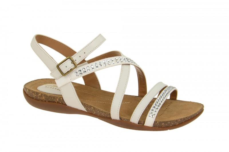 Clarks AUTUMN PEACE Riemchen Sandale für Damen in weiß