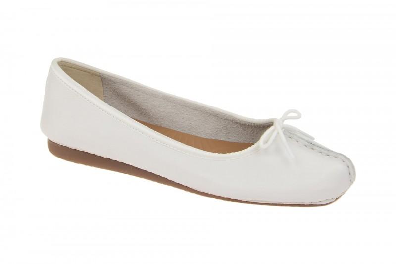 Clarks FRECKLE ICE Ballerina - Halbschuhe - Slipper für Damen in weiß