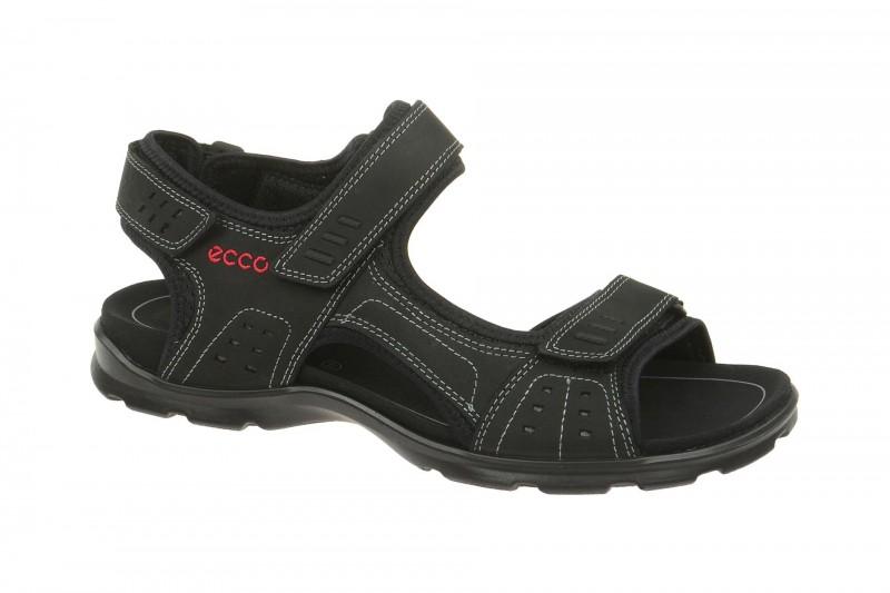 Ecco UTAH bequeme Sandale für Herren in schwarz