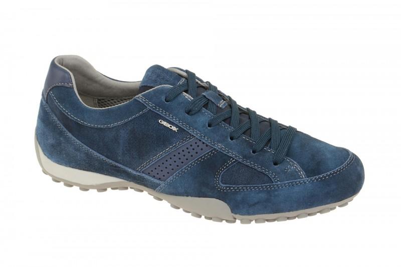 Geox Respira Snake E Herren Sneakers in blau Halbschuhe