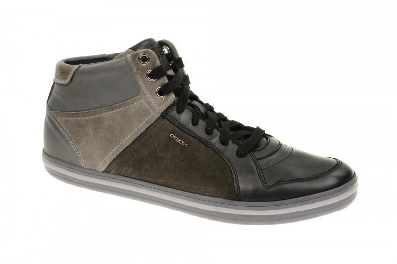 Geox Respira Box E Sneakers in schwarz dunkelgrau Herren Stiefelette