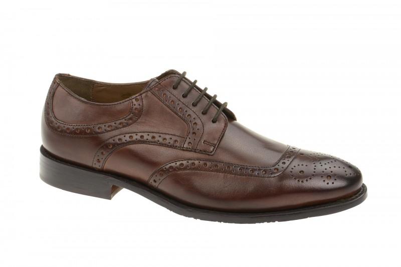 Gordon & Bros. FRANCESCO elegante Halbschuhe und Schnürschuhe für Herren in dunkel-braun