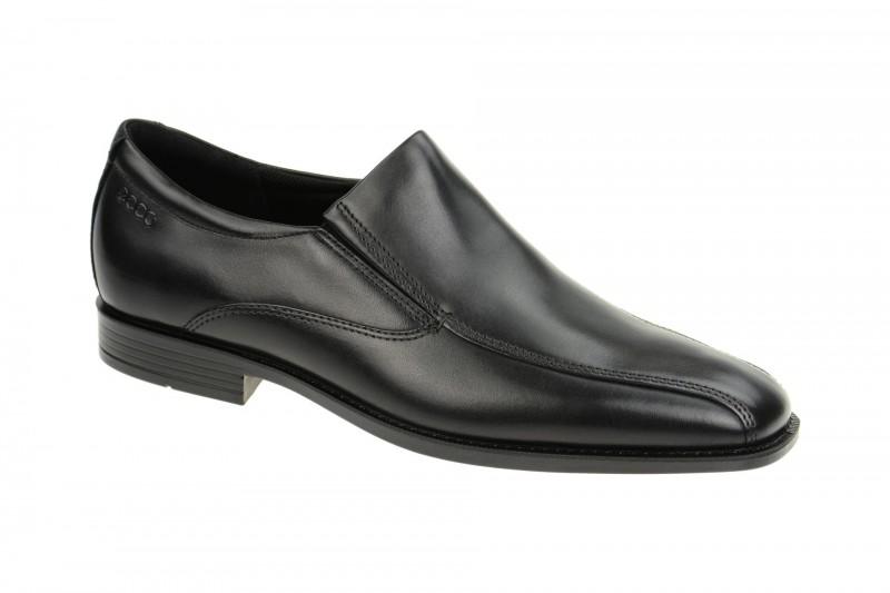 Ecco EDINBURGH elegante Slipper für Herren in schwarz