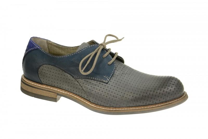 Bello HE176 elegante Halbschuhe und Schnürschuhe für Herren in grau