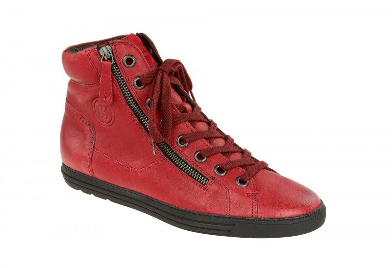 Paul Green 1230 sportliche Stiefelette für Damen in rot
