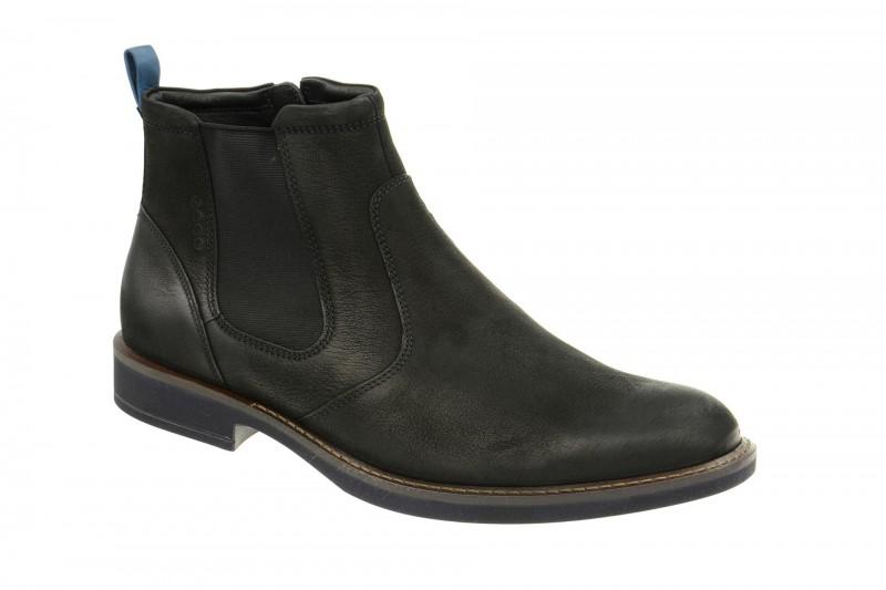 Ecco BIARRITZ elegante Stiefelette für Herren in schwarz
