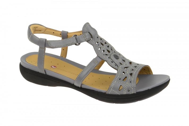 Clarks UN VALENCIA Riemchen Sandale für Damen in grau
