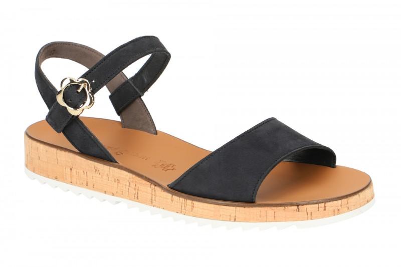 Paul Green 7161 Riemchen Sandale für Damen in dunkel-blau