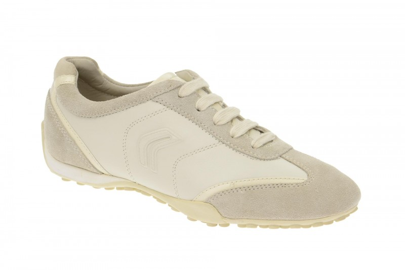 Geox Respira Snake X Sneakers in weiß grau Damenschuhe
