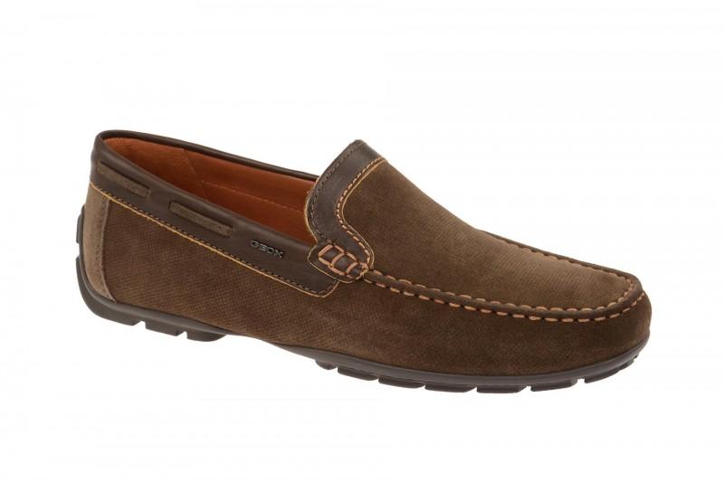 Geox Respira Monet A Schuhe in dunkelbraun Herren Slipper