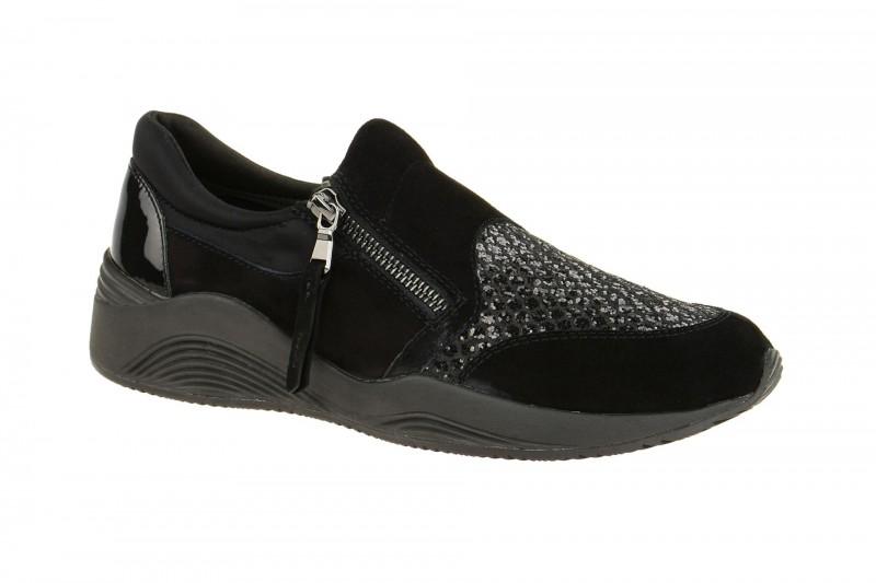 Geox Respira Omaya A Sneakers in schwarz Glitter