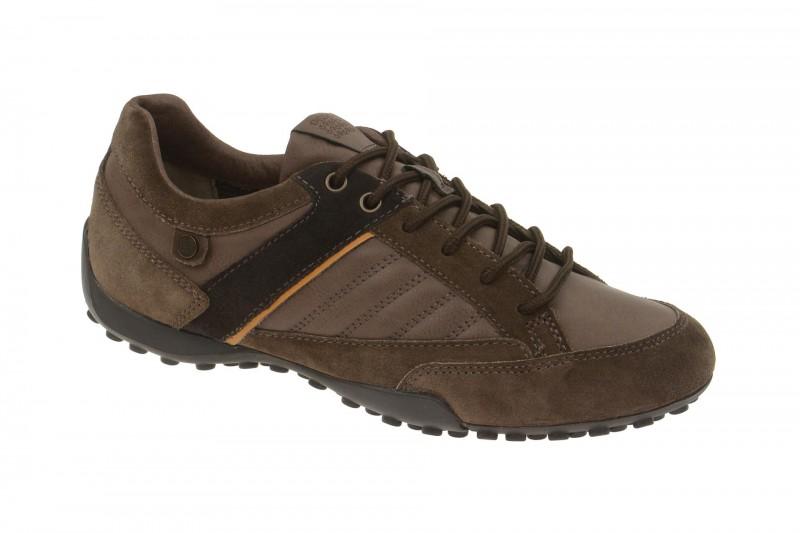 Geox Respira Snake B Sneakers in braun + dunkelbraun