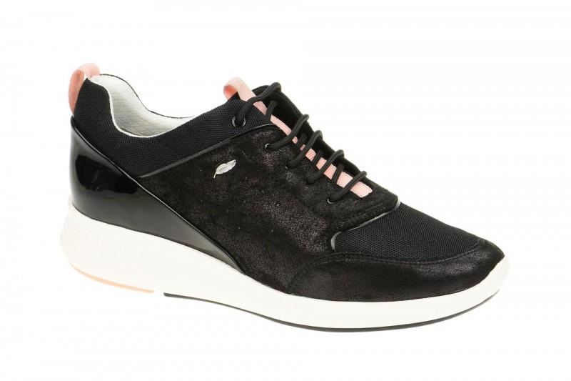 Geox Respira Ophira B Sneakers in schwarz rosa Damenschuhe